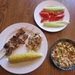 chicken shish kabobs dinner