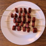 how to make grilled hot dog shish kabobs