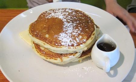 simple cafe kids menu pancakes
