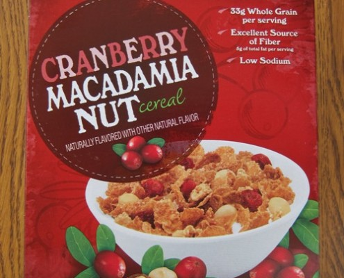 kirkland cranberry macadamia nut cereal from costco