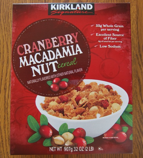 Kirkland Cranberry Macadamia Nut Cereal From Costco