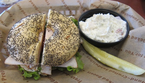 einstein bros bagel deli turkey sandwich