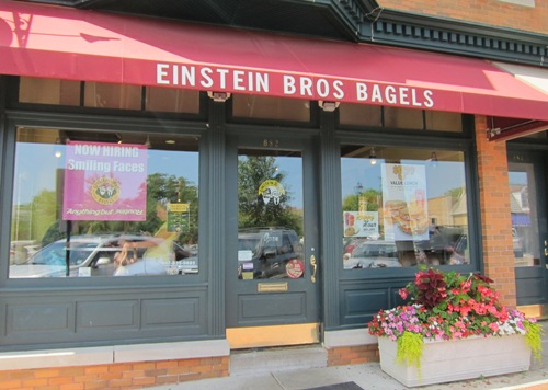 einstein bros bagels restaurant glencoe illinois
