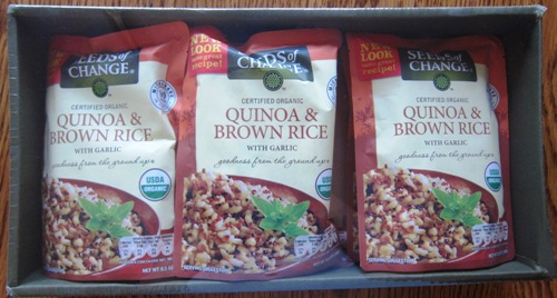 of the Costco package of this instant quinoa and brown rice mixQuinoa Rice Costco
