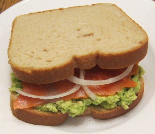 Lox sandwich recipe with avocado and onion melanie cooks lox sandwich with avocado and onion forumfinder Images