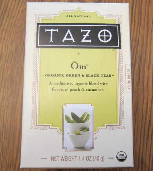 tazo om green and black tea