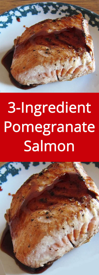 Pomegranate Salmon recipe - so easy, yummy and healthy! | MelanieCooks.com