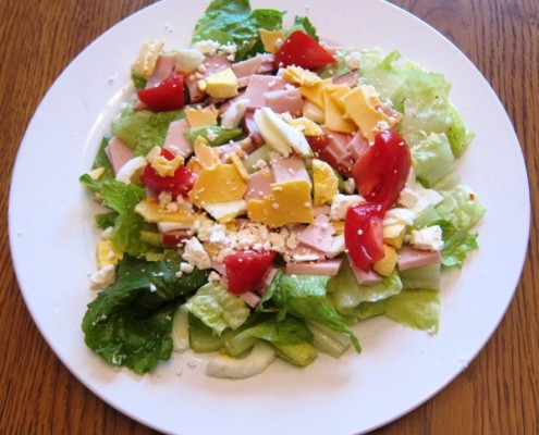 Chopped Salad With Chicken And Roasted Peppers