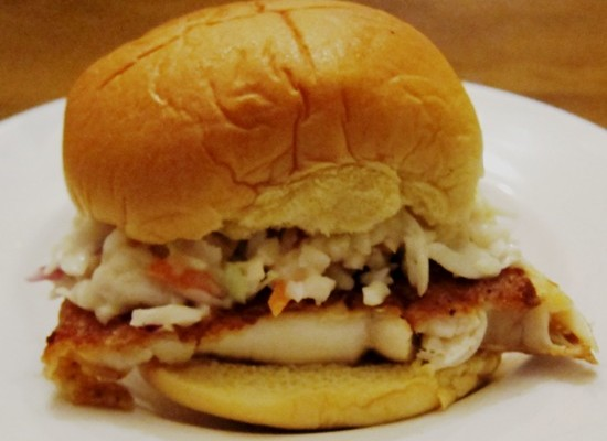 how to make tilapia fish sandwich with coleslaw