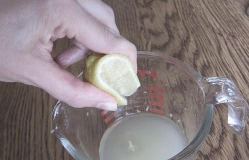 squeezing a lemon