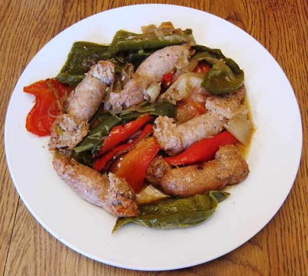 baked italian sausage with peppers