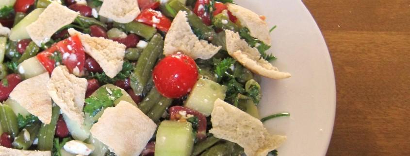 how to make fattoush salad