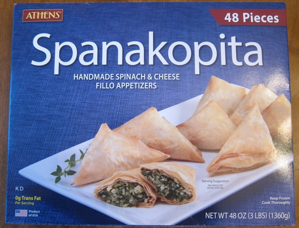 Spanakopita Costco Etizers Package Picture