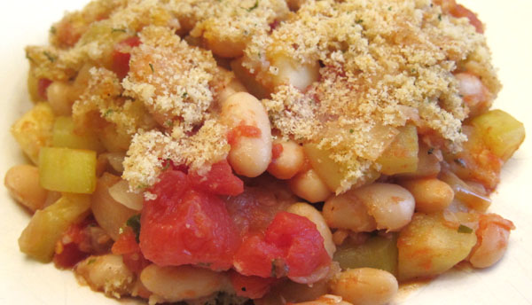 how to make zucchini and white bean casserole