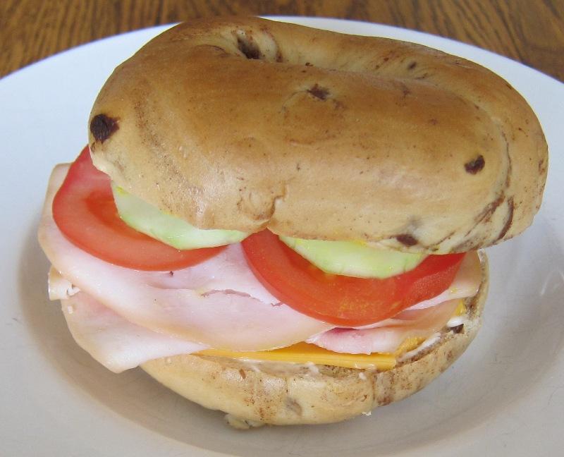 bagel turkey deli sandwich