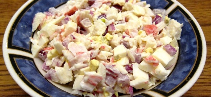 crab salad recipe - how to make crab salad