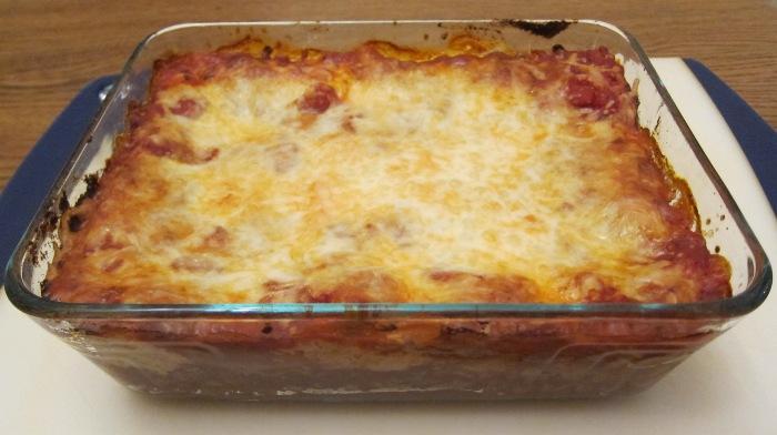 cooked frozen lasagna