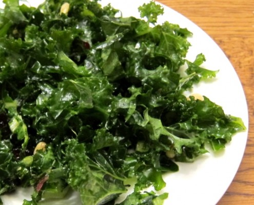 kale salad recipe with pine nuts