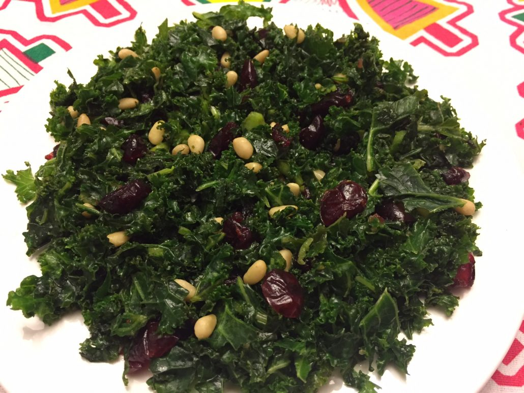 How To Make Kale Salad With Pine Nuts And Cranberries