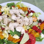 Chicken Main Dish Salad With Roasted Red Peppers