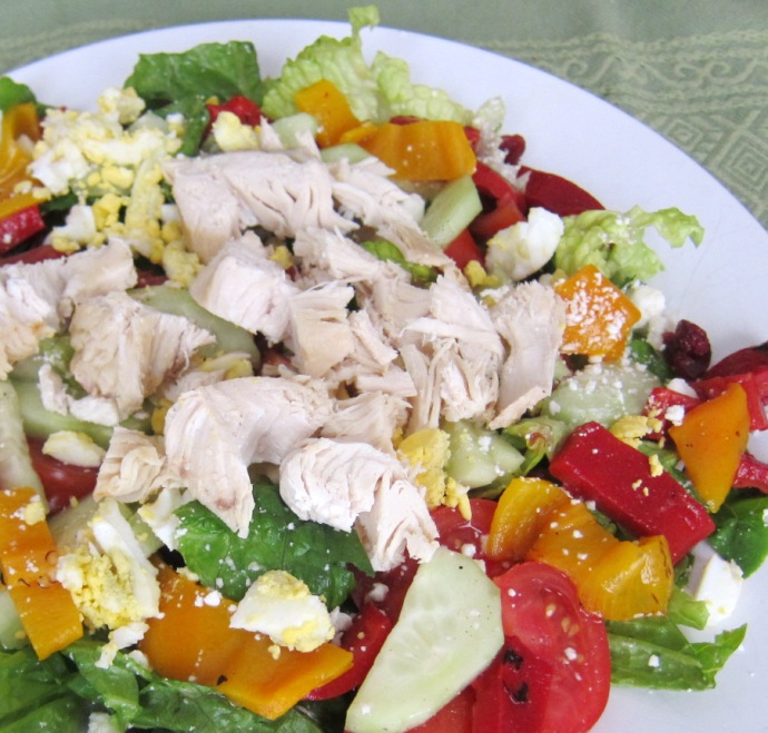 Chopped Salad Recipe With Chicken And Roasted Peppers