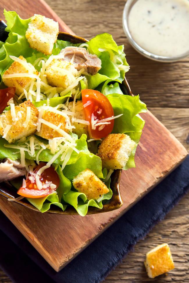 Homemade Caesar Salad Dressing - No Raw Eggs!