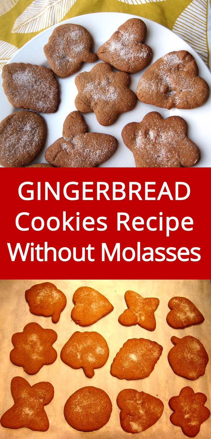 Gingerbread Cookies - Super Easy Recipe That Doesn't Require Molasses! Must make this, people rave about these cookies! | MelanieCooks.com