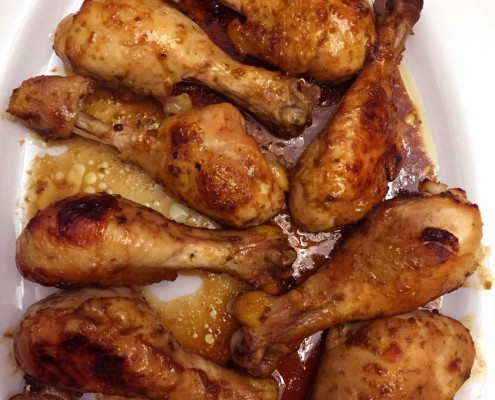 Baked Apricot Chicken Legs