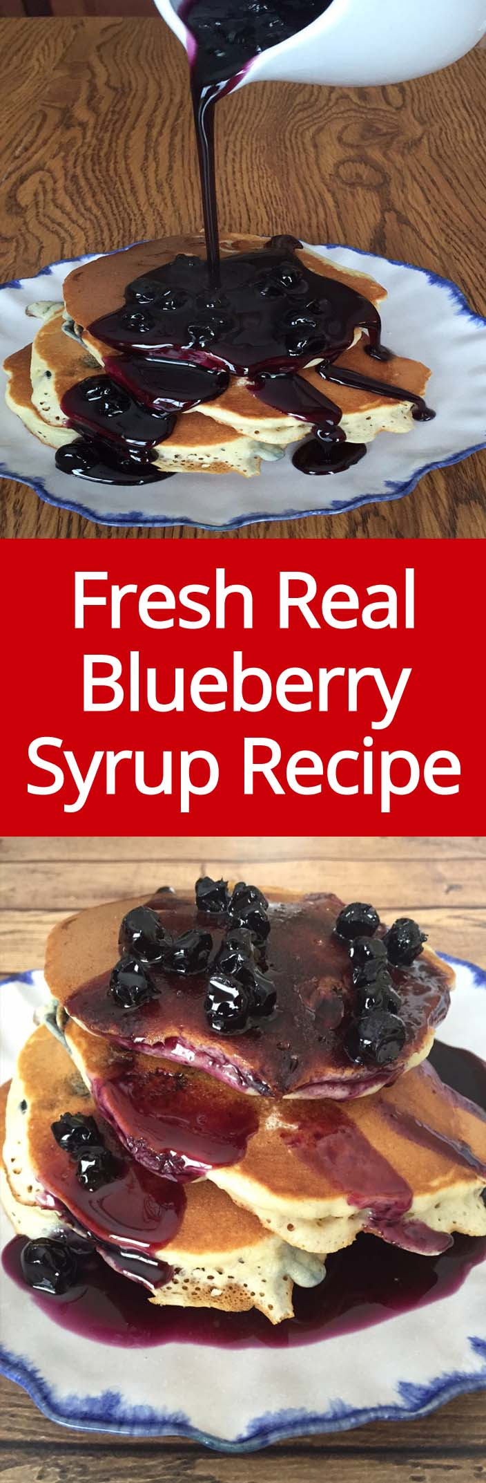 Homemade Blueberry Syrup Recipe For Pancakes Or Ice Cream
