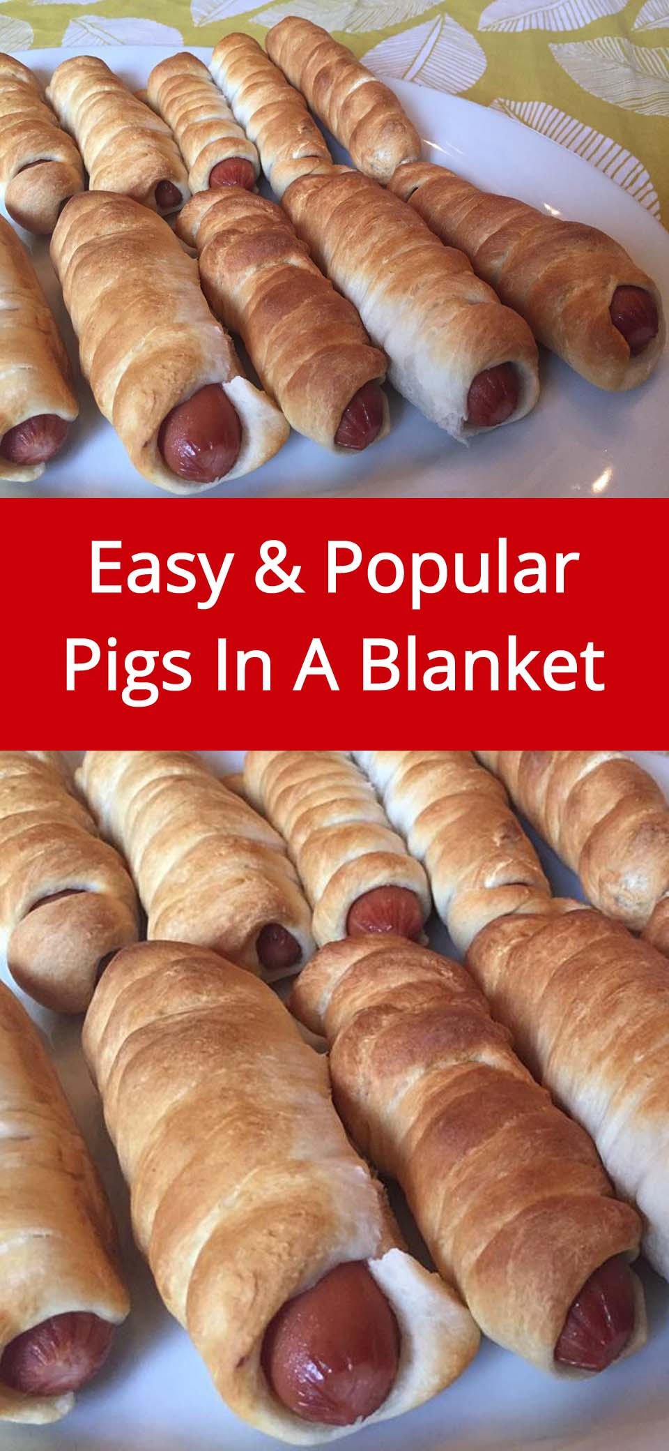 These easy pigs in a blanket are always a hit! Who doesn't love juicy hot dogs wrapped in freshly baked dough? Everybody loves these pigs in a blanket!
