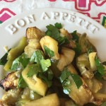 Spicy Roasted Eggplant Salad With Garlic And Peppers