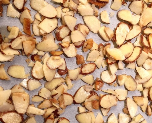Toasted Sugared Caramelized Slivered Almonds