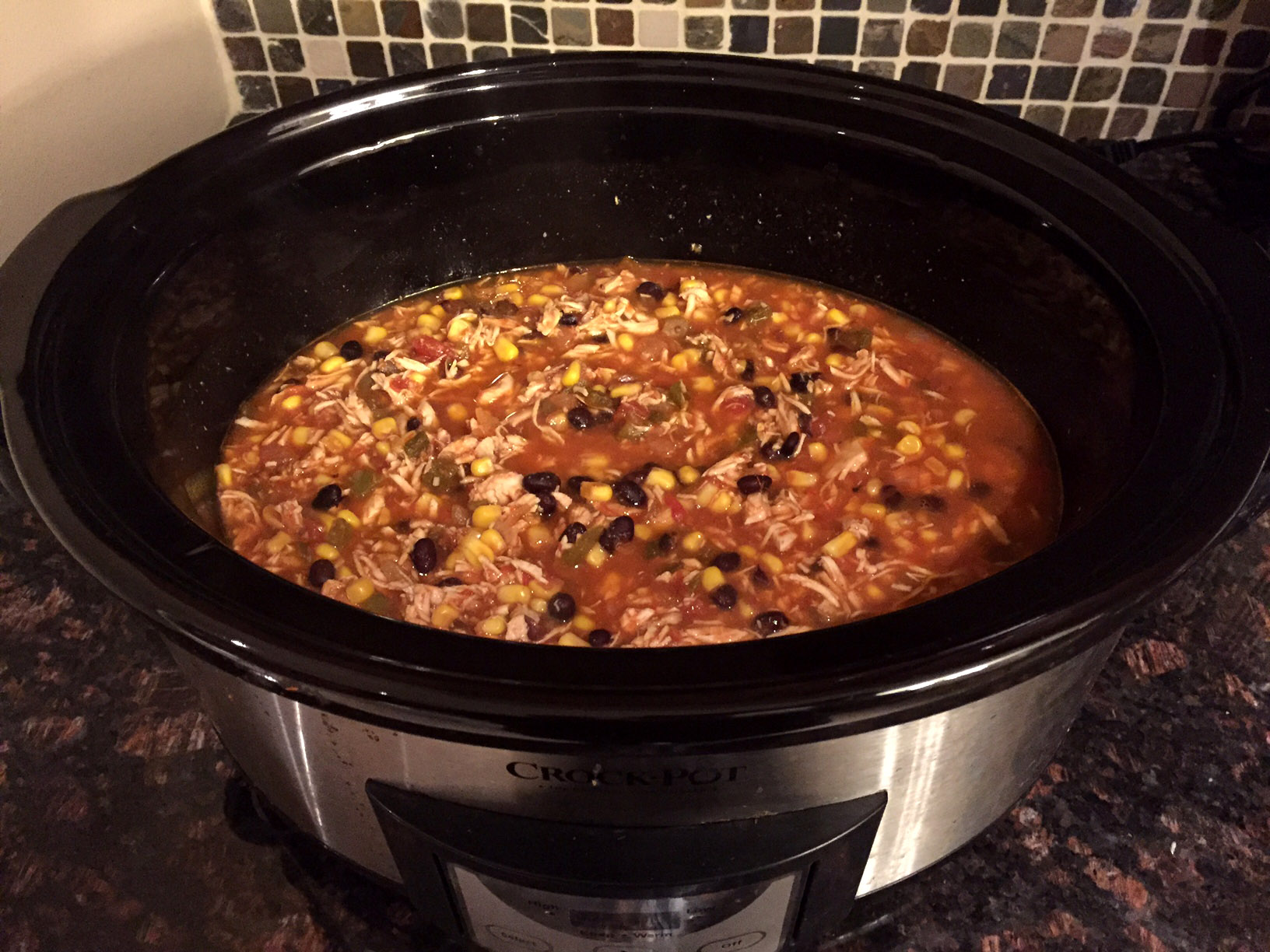 easy mexican chicken tortilla soup crock pot 5 ingredient