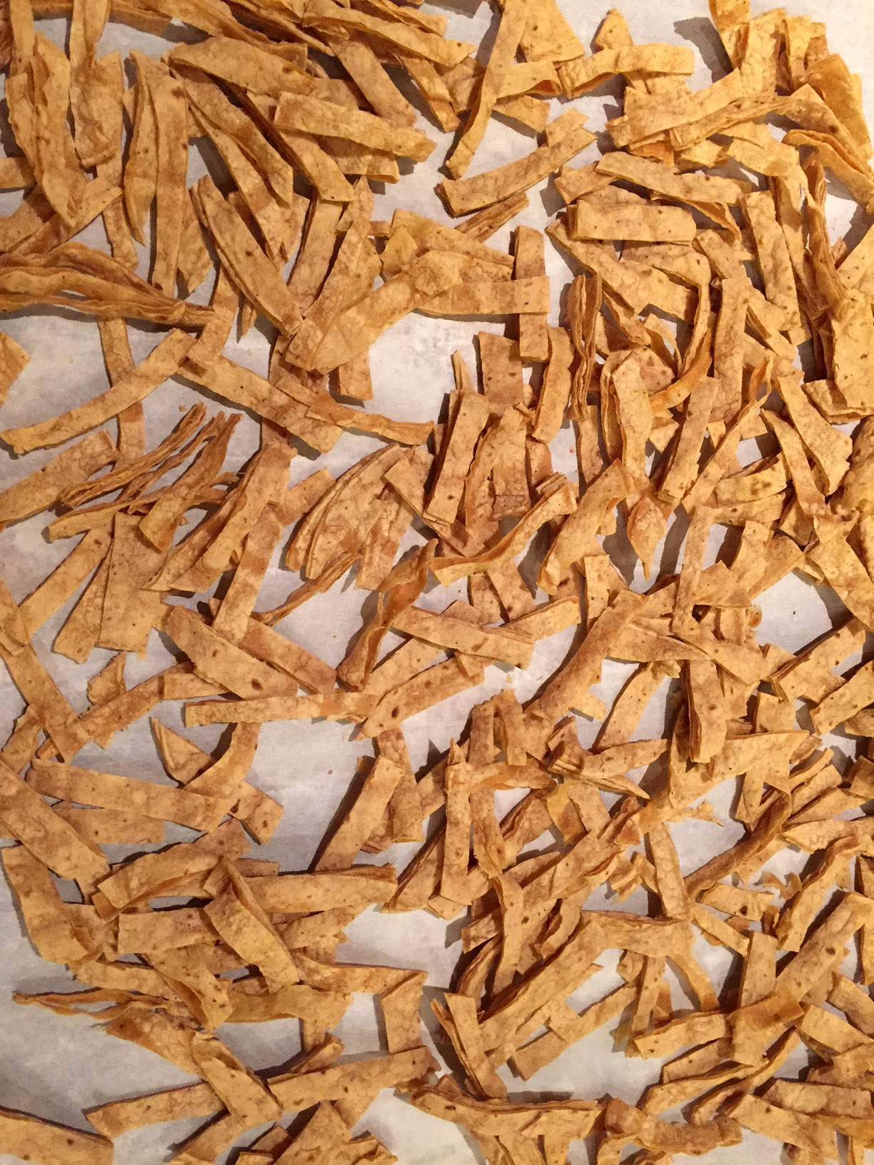 Corn Tortilla Strips For The Chicken Tortilla Soup