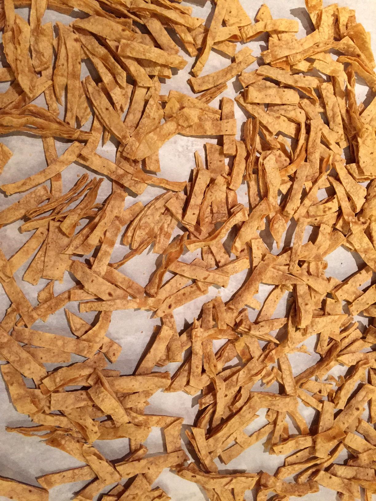 Corn Tortilla Strips For The Chicken Tortilla Soup