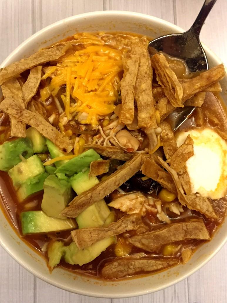 Crockpot Mexican Chicken Tortilla Soup