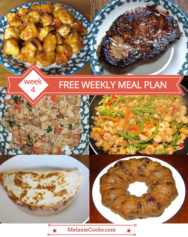Free Weekly Meal Plan Family Dinner Menu Ideas Week 4 Melanie Cooks