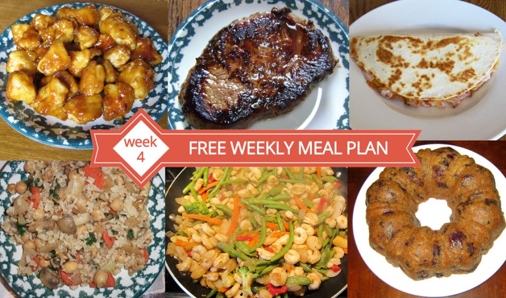 Free Weekly Meal Plan Family Dinner Menu Ideas Week 4