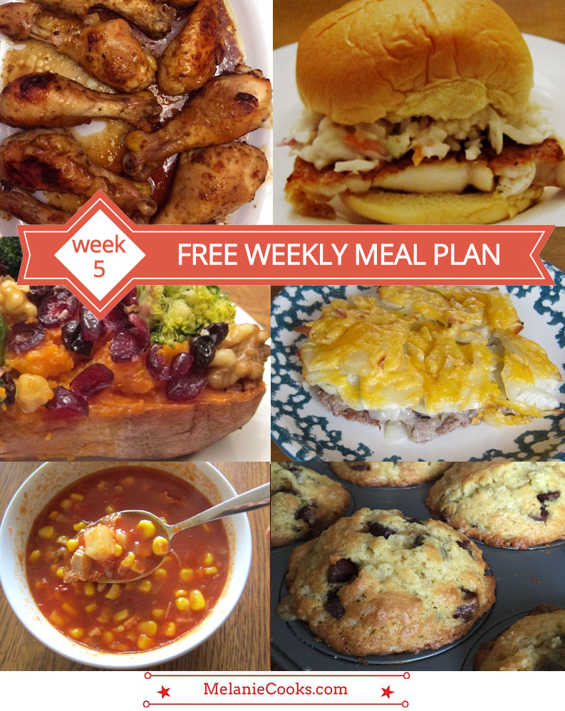 Free Weekly Meal Plans - Week 5 Menu