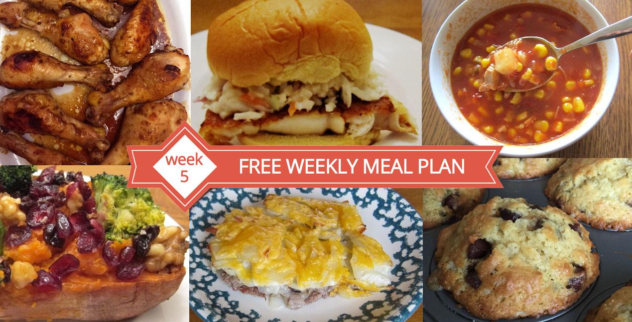 Free Weekly Meal Plan Family Dinner Menu Ideas Week 5 Melanie Cooks
