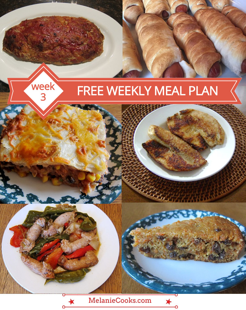 free weekly meal plan – family dinner menu ideas (week 3) – melanie