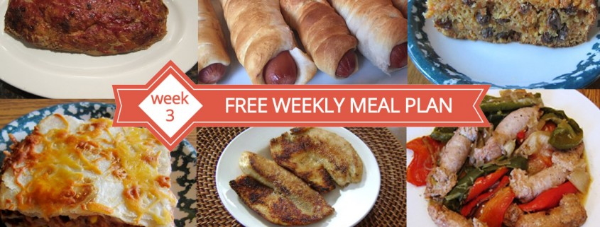 Free Weekly Meal Plans - Menu For Week 3