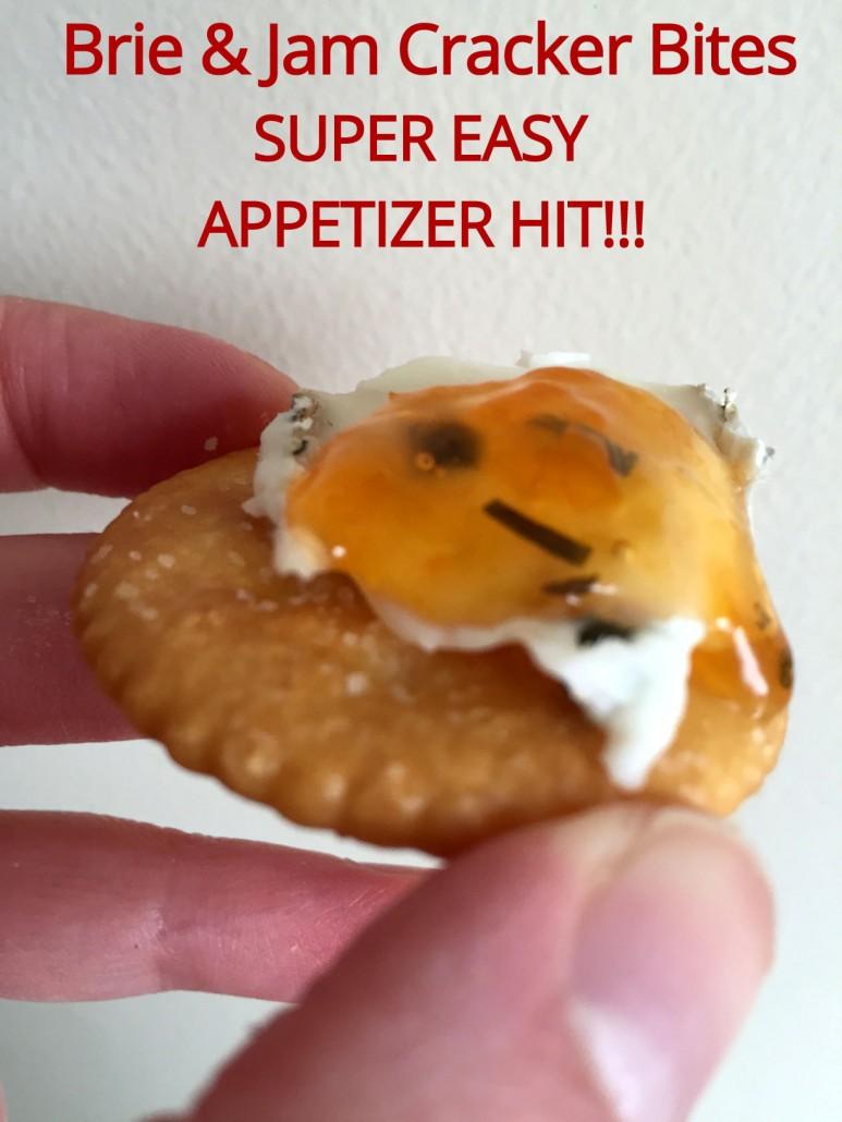 Easy Brie and Jam Appetizer Ritz Cracker Bites Recipe ...