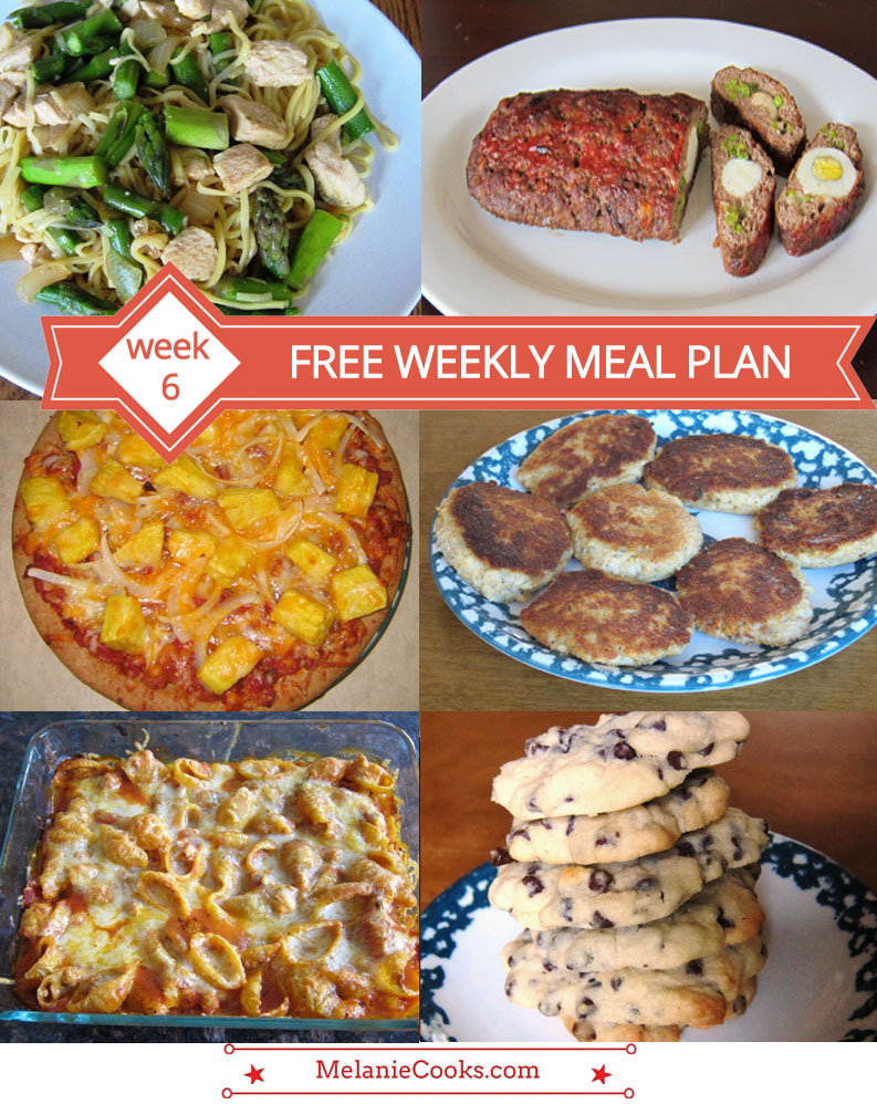 Free Weekly Meal Plans - WEEK 6