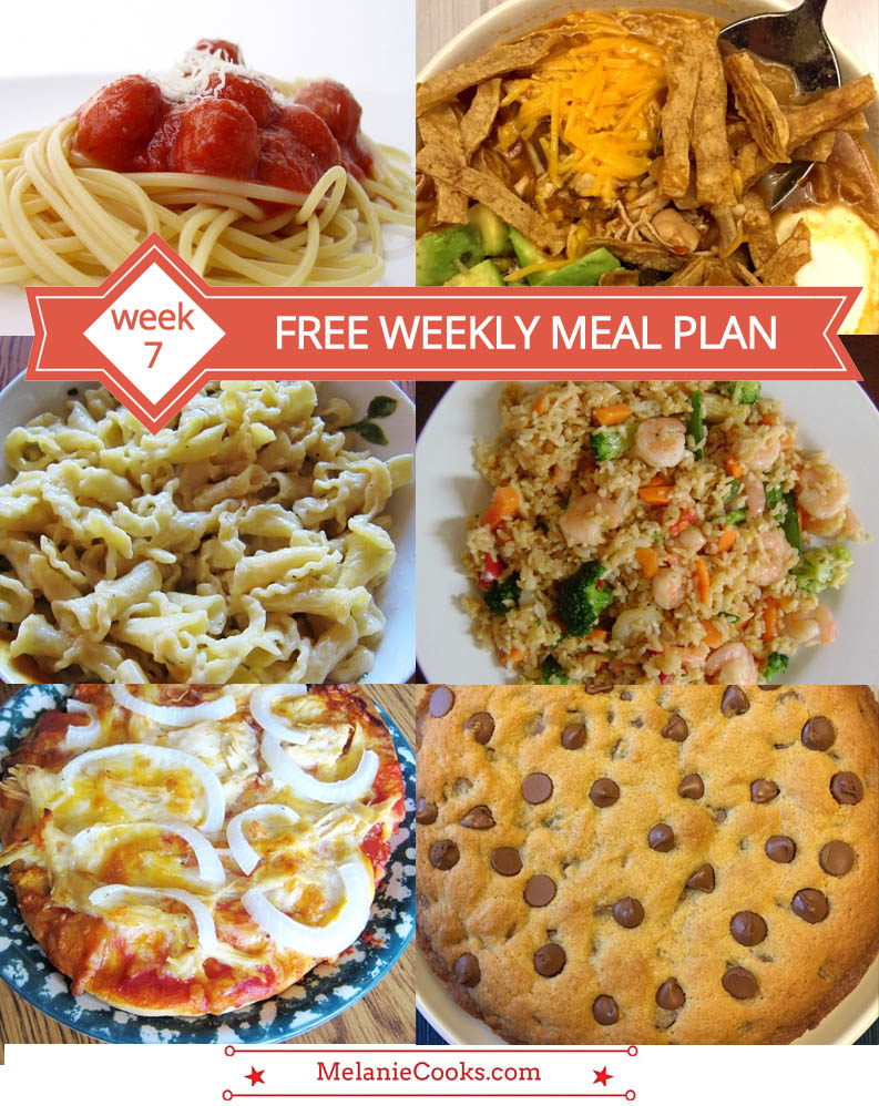 Free Weekly Meal Plan - Menu For Week 7