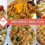 Free Weekly Meal Plan - Menu For Week 7