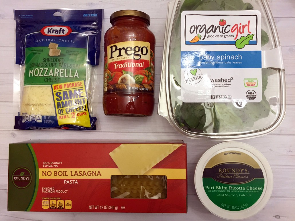 Ingredients For Easy Spinach Lasagna