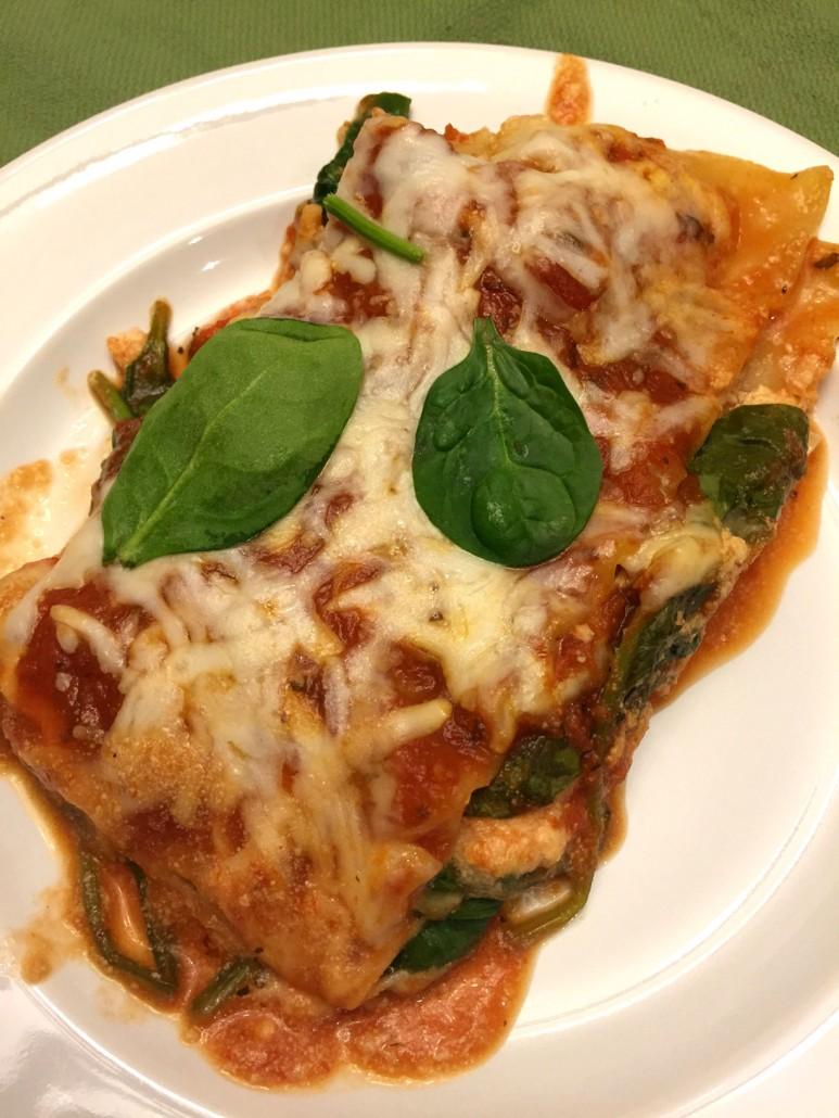 lazy 5-ingredient no-boil spinach lasagna recipe - melanie
