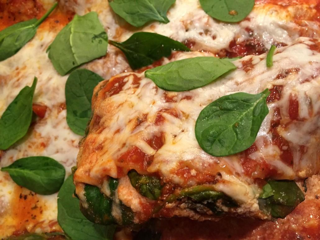 Easy 5 Ingredient Spinach Lasagna