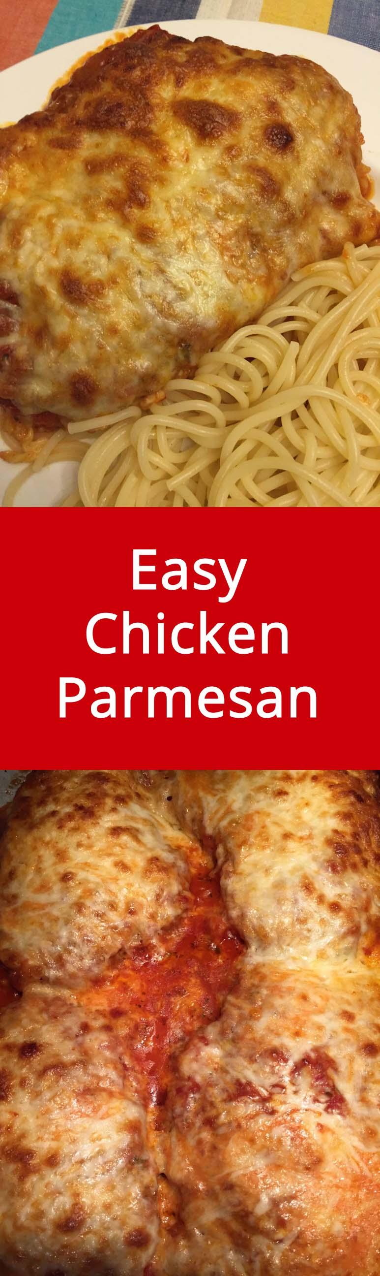 Easy Italian Chicken Parmesan Recipe | MelanieCooks.com